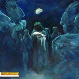 «بهانه خلقت»؛ تابلوی جدید حسن روحالامین به مناسبت میلاد حضرت زهرا(س)