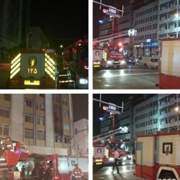 آتش سوزی در کارگاه تولید لباس عروس – تقاطع انقلاب _حافظ