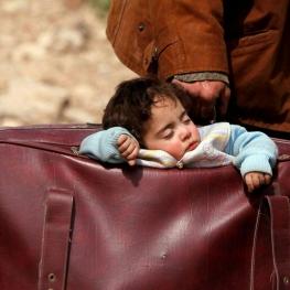 عکسی از مرد ساکن غوطه شرقی سوریه
