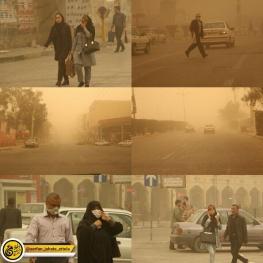 هوای کرمانشاه در وضعیت هشدار قرار گرفته است