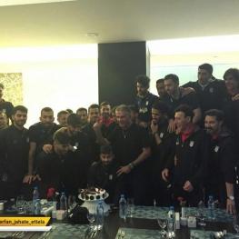 جشن تولد رامین رضاییان در اردوی تیم ملی