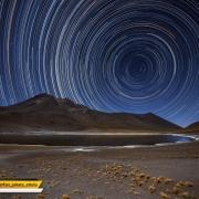 عکاسی از ردستارگان در آسمانشب صحرای آتاکاما در شیلی