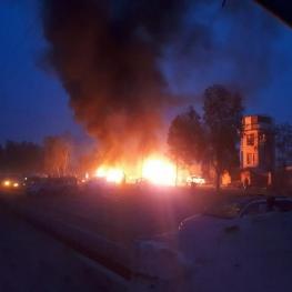 انفجار در بیرون یک ورزشگاه در شهر 'لشگرگاه'، مرکز ولایت هلمند افغانستان