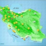 وضعیت آب و هوای استانهای کشور