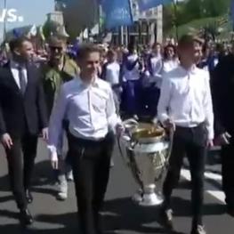 جام لیگ قهرمانان اروپا طی مراسمی درکییف،پایتخت اوکراین رونمایی شد