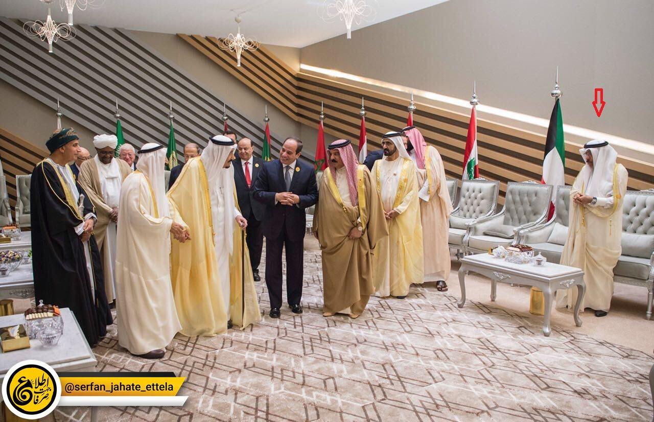 سيف بن مقدم البوعينين نماینده دائم  قطر در اتحادیه عرب مورد بی توجهی و بی محلی آشکار قرار گرفت.