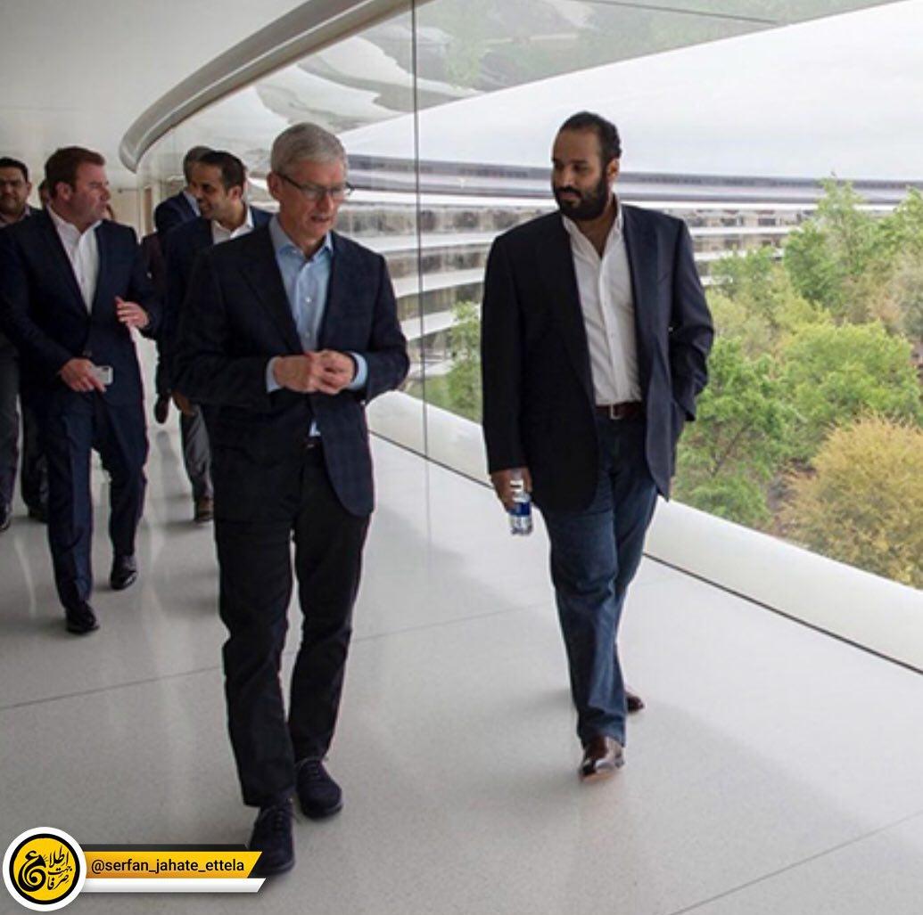 محمد بن سلمان دیروز در اپل پارک ملاقاتی با تیم کوک، مدیرعامل اپل و برخی از مدیران ارشد این شرکت داشت