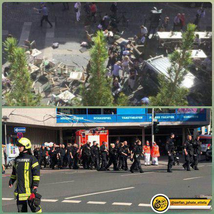منابعی درپلیس میگویند مهاجم بعد از زیر گرفتن حاضران در یک رستوران حاشیه خیابان،به خود تیراندازی کرده