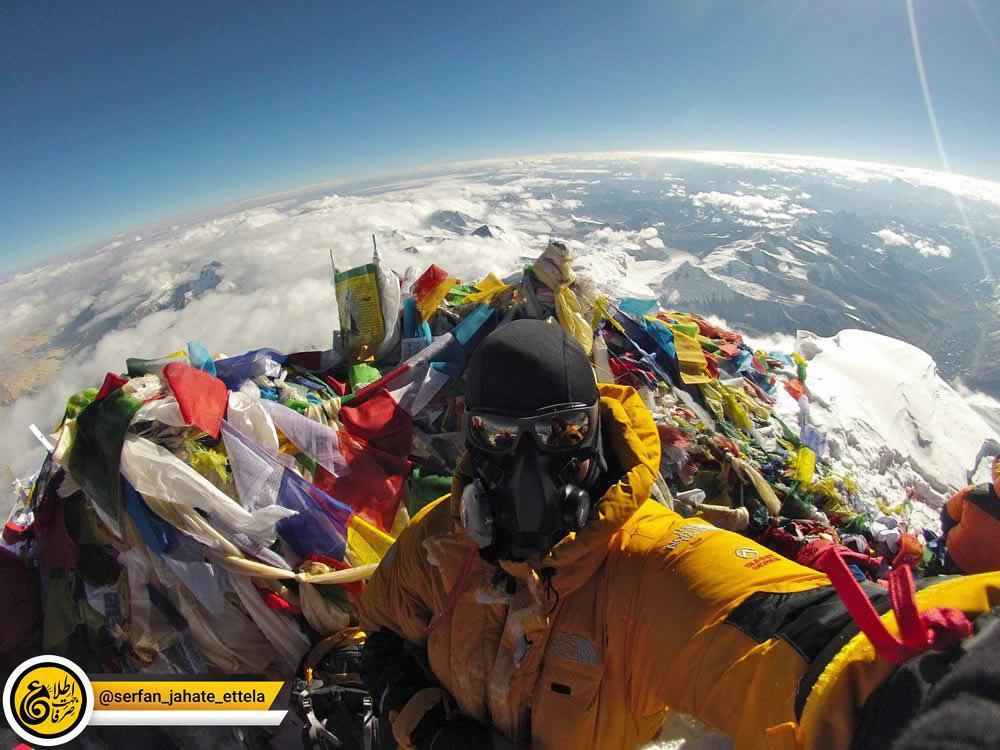 سلفی ها در بلند ترین نقطه ی کره زمین (قله ی اورست)