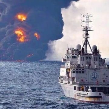 اولین ویدئو از نفتکش سانچی در اعماق دریای چین