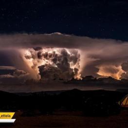 طوفان صحرایی در کوه های غرب ایالت تگزاس در آمریکا