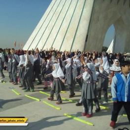 برگزاری مراسم نواختن زنگ تحرک دانش آموزان
