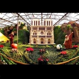 برج آزادی تهران در نمایشگاه سبزیجات شهر «شوگوانگ»