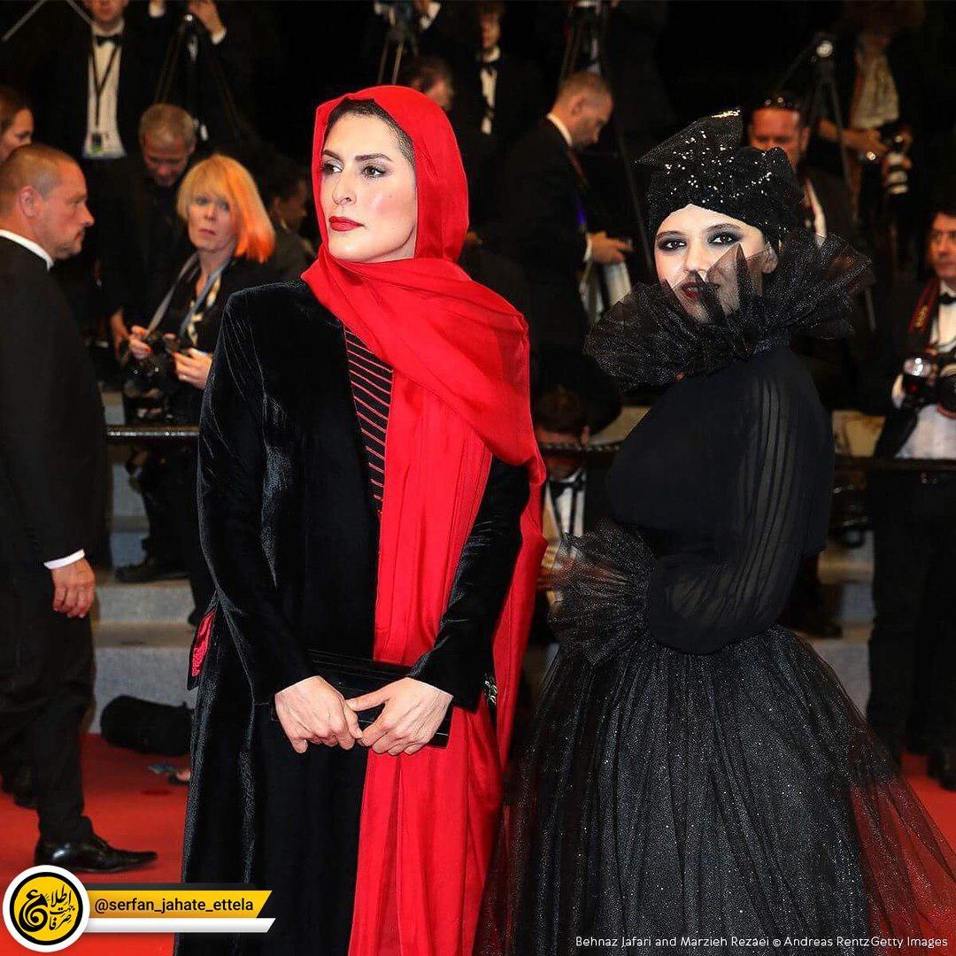 لباس متفاوت و جالب مرضیه رضایی، بازیگر جوان در مراسم فرش قرمز کن