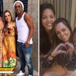 رونالدینیو با دو دوست دخترش پریسیلا و بئاتریس در یک روز ازدواج خواهد کرد