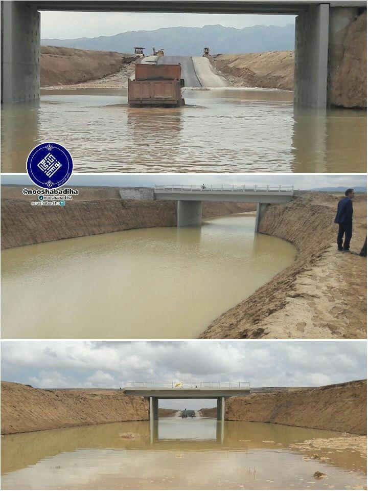 پل تازه تاسیس نوش آباد به کاشان، شاهکار مهندس