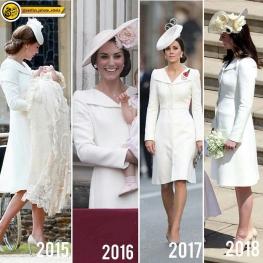 کیت میدلتون همسر شاهزاده انگلستان برای چهارمین بار این لباسو پوشیده