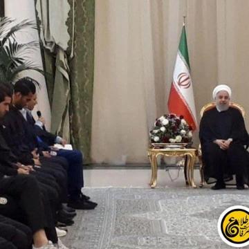 اعضای تیم ملی فوتبال کشورمان در دیدار  با روحانی دیدار
