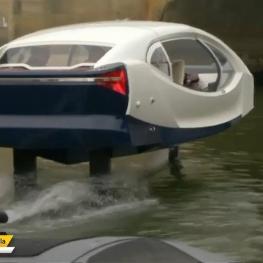 تاکسی روی آبی که SeaBubbles نام دارد