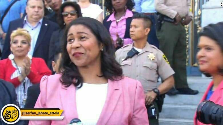 لاندن برید ۴۳ ساله به عنوان نخستین زن سیاه پوست  شهردار شهر سانفرانسیسکو شد