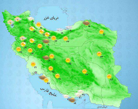امروز در نوار شرقی کشور وزش باد شدید گاهی همراه با پدیده گرد و خاک رخ خواهد داد