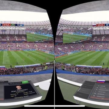 شبکه SBS استرالیا این قابلیت رو ایجاد کرده که بتونید بازی رو با یه اپلیکیشن از طریق واقعیت مجازی (VR) ببینی