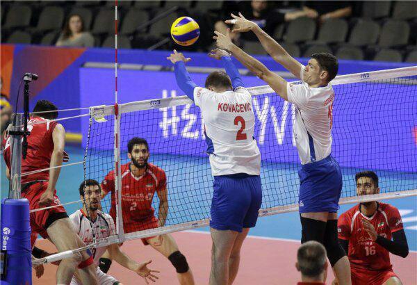 شکست والیبالیستهای ایران در بازی نزدیک