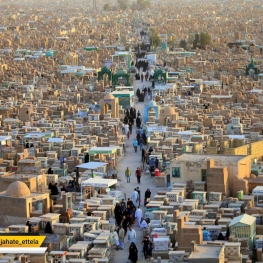 تصویر روز: گورستان وادی السلام در نجف (بزرگترین گورستان دنیا)