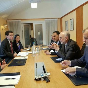 دیدار صالحی، رئیس سازمان انرژی اتمی، با دبیرکل سازمان ملل