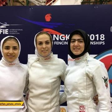 موفقیت زنان شمشیرباز ایران