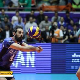 پیروزی تیم والیبال ایران مقابل بلغارستان