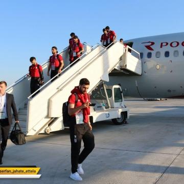 ورود تیم ملی به سارانسک