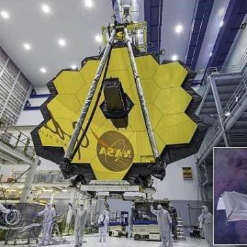 تصویر رونمایی رسمی ناسا از تلسکوپ جیمز وب