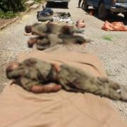 نخستین تصاویر از اجساد تروریست های معدوم