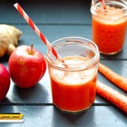 آب سیب و هویج سرشار از آنتی اکسیدان و برای تقویت سیستم ایمنی بدن بسیار مفید است