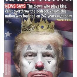 جلد روزنامه «نیویورک دیلی نیوز» در سالروز استقلال آمریکا