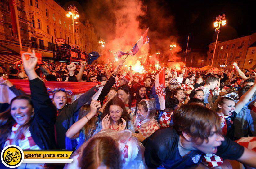 جشن در کرواسی پس از صعود تاریخی به فینال جام جهانی
