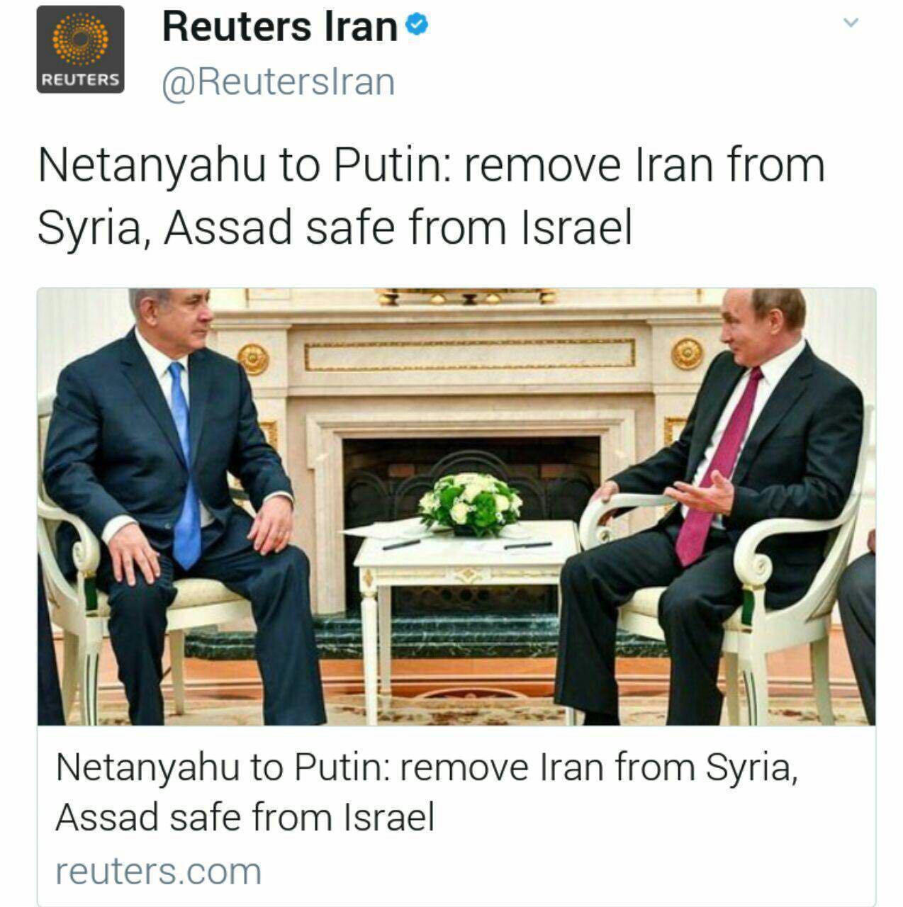 نتانیاهو در دیدار با پوتین: ایران را از سوریه خارج کنید