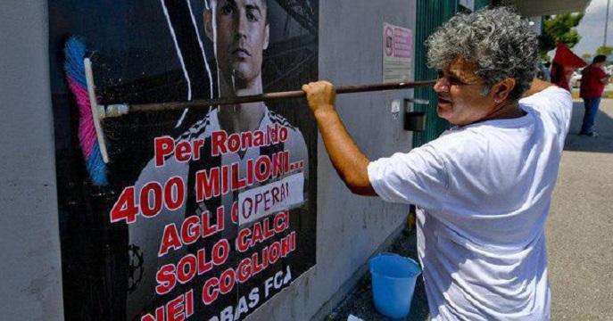 کارگران فیات در برابر رونالدو!