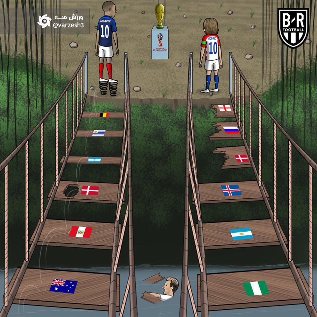 مسیر متفاوت دو فینالیست جام جهانی ۲۰۱۸