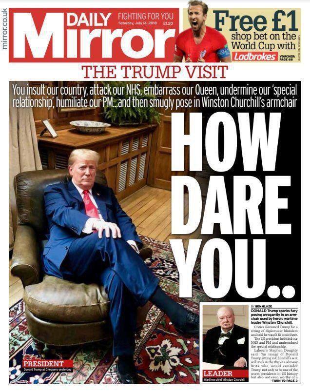 در پی نشستن ترامپ بر روی صندلی چرچیل