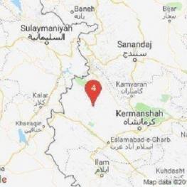زلزله ۴.۶ ریشتری در ثلاث باباجانی دقایقی پیش این منطقه را لرزاند