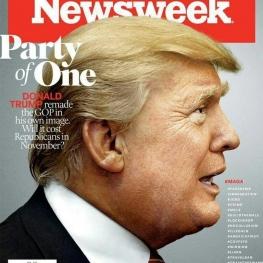 حزب یک نفره؛ طرح روی جلد شماره جدید هفته نامه نیوزویک