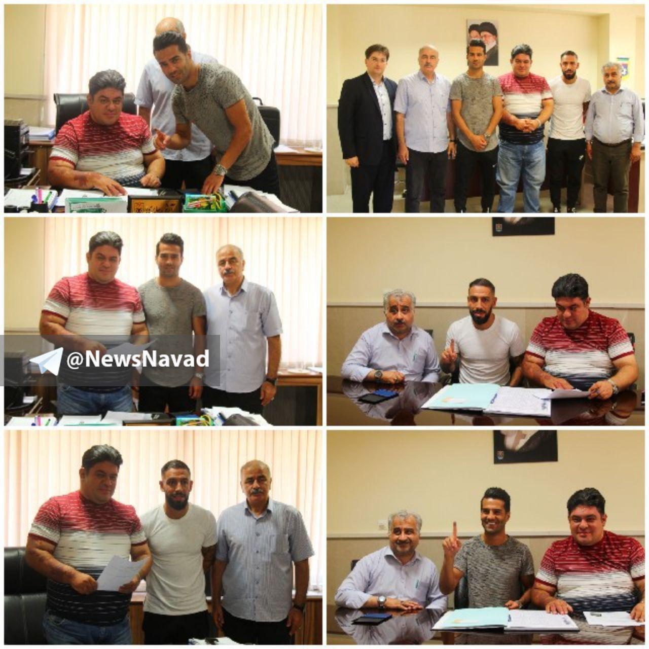 اشکان دژاگه و مسعود شجاعی قرارداد ۳ ساله خود را در تراکتورسازی به ثبت رساندند