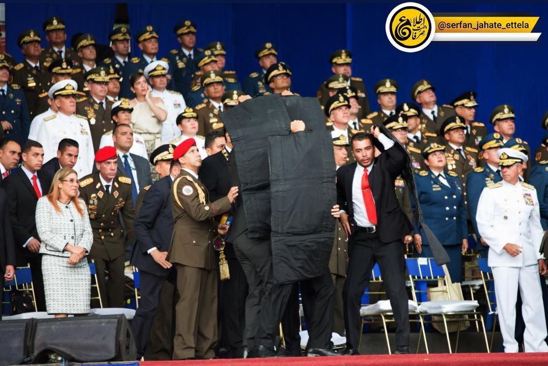 حمله تروریستی به رئیس جمهور ونزوئلا با پهپاد/ جانشین چاوز جان سالم بدر برد