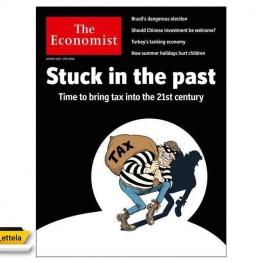 طرح روی جلد شماره جدید هفته نامه اکونومیست