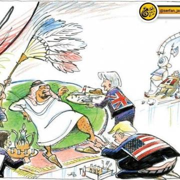 کاریکاتور بسیار جالبی  از مجله مونترال گزت