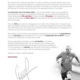داوید سیلوا از تیم ملی فوتبال اسپانیا خداحافظی کرد