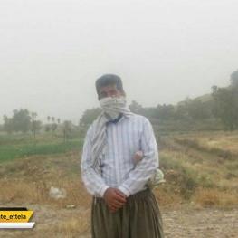 یک توده هوای غبارآلود که ازدوشنبه غربی ترین نقطه کشورمان قصرشیرین کرمانشاه را فرا گرفت