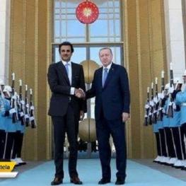امیر قطر که به آنکارا سفر کرده است، با رئیس جمهوری ترکیه دیدار کرد